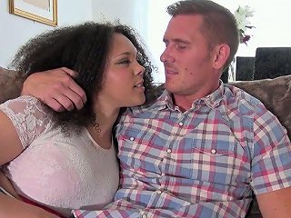 Voluptuous Frizzy Haired Brunette Gets Her Meaty Cunt Nailed Mish Hard