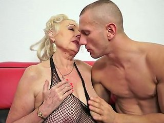 Aged Doll Sila Is Satisfying Her Teen And Muscular Fucker
