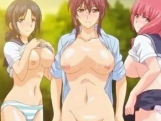 Super Juicy Anime Gals Get Their Wet Slits Fucked In The Forest