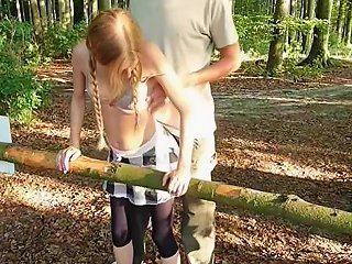 Ariella Small Slut Taken To The Forest And Brutally Fuck