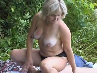 Lewd Milf Sneaks Her Much Younger Stud To The Woods A Fir A Hardcore Shagging