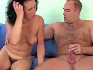 German Teen Guy Seduce Hairy Step Mom To Get First Fuck Drtuber