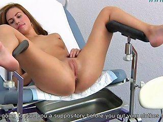Young Brunette Gyno Exam