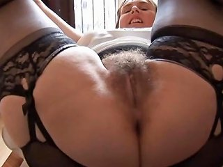 Hairy Busty Mature Lady In Slip And Girdle Does Upskirt And Drtuber
