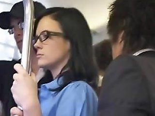 Brunette Gets Felt Up And Jacks Off And Sucks Cock On A Bus Nuvid