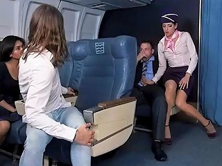 Flight Attendant Nikki Fucks One Of The Horny Passenger
