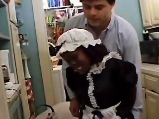 Black Midget Maid Sucks The Landowners Dick