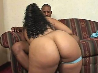 Curly Black Girl Shakes Her Booty And Rides Big Black Cock