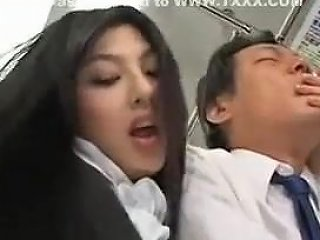 Horny Japanese Girl Sexual Harassment To A Man On Train Txxx Com