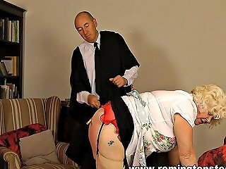 Blonde Mature School Cook Caned And Paddled