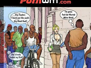 White Slut Teacher In Heat For Some Teen Hung Black Boys Xxx Comic