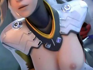 D Va Widowmaker Mercy Hot Passionate Sex Best Animation Surprise At End