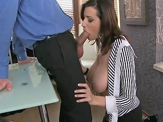 Horny Secretary With Massive Boobs Fucked By Manager