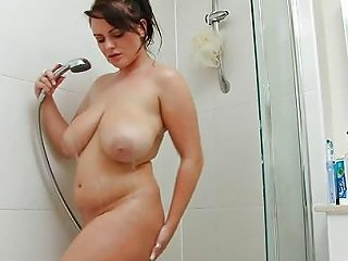 Curvy Teen Slut Soaps Up Her Booty In The Shower Porn 0a