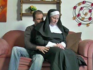 German Teen Boy Seduce Granny Nun To Fuck Him Hd Porn 80