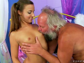 Amirah Adara Gets Her Pussy Toyed By Some Lewd Old Dude