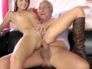 Teen Brunette Gets It Doggystyle By Old Hdzog Free Xxx Hd High Quality Sex Tube